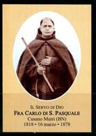SANTINO - Fra Carlo Di S.Pasquale - Santino Con Preghiera, Come Da Scansione - Santini