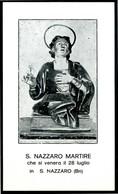 SANTINO - San Nazzaro Martire - Santino, Come Da Scansione - Images Religieuses