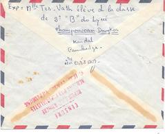 Lettre Cambodge Phnompenh Censure Censor Geoffnet 1972 - Cambodia