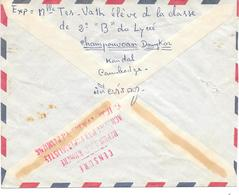 Lettre Cambodge Phnompenh Censure Censor Geoffnet 1972 - Kambodscha