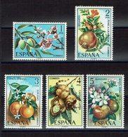 SERIE 5 TIMBRES ESPAGNE 1975 MNH - FLORE - FRUITS - Frutas