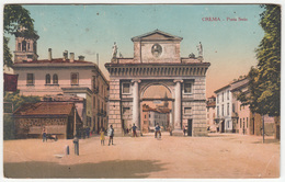 Crema, Porta Serio Old Postcard Travelled? B180920 - Altre Città
