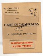 PROTEGE CAHIER - 36 - LYE - CHAMPIGNONISTE - Fumier De Champignons - CHAMPIGNONS - PUBLICITE - Farm