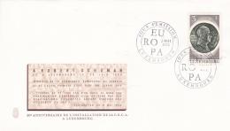 Luxembourg FDC 1972 Robert Schuman CECA  (G94-15) - Organizations