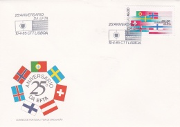 Portugal FDC 1985 EFTA 25th Anniversary   (G94-15) - Organizations