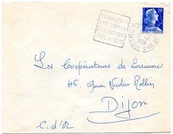 VIGNE & VIN = 21 MARSANNAY LA COTE 1958 = FLAMME DAGUIN ' FRUITS / GRANDS VINS ROSES ' Sur ENVELOPPE ENTIERE - Marcophilie (Lettres)