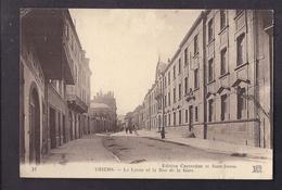 CPA 63 - THIERS - Le Lycée Et La Rue De La Gare - TB PLAN CENTRE VILLE Etablissement Scolaire Animation - Thiers