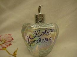 """LOLITA LEMPICKA : COLLECTOR """" EAU DE MINUIT""""  STRASS & BOUCHON ARGENTES  VAPO  100 ML  VIDE  LIRE ET VOIR !! - Miniatures Modernes (à Partir De 1961)"""