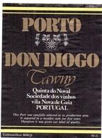 Etiket Etiquette - Vin - Wijn - Porto Don Diogo - Tawny - Portugal - Etiquettes