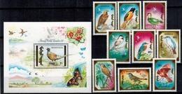 MDB-BK6-354-4 MINT ¤ MONGOLIA 1990 KOMPL. SET  ¤ OISEAUX - BIRDS OF THE WORLD - PAJAROS - VOGELS - VÖGEL - - Zangvogels