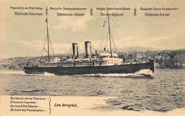 Ostende Oostende Dover  Jan Breydel   Aan Boord Van Paketboot     I 4070 - Koopvaardij