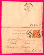 Carte Lettre 15 C Mouchon - Entier Postal - Oblit. Saumur ( 49 ) Vers Grasse ( 06 ) - Pour Ossola Parfumeur - 1902 - Biglietto Postale
