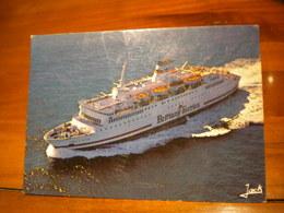 CARTE POSTALE Bateau BRITTANY FERRIES M.V. PRINCE OF BRITTANY - Transbordadores