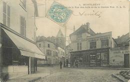 MONTLHERY - Rue Des Juifs Et Grande Rue, épicerie Porcelaines Cristaux. - Montlhery