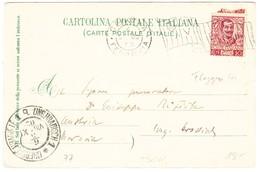 1902 AK Aus Genua, Castellaccio Nach Ungarisch Hradisch, Tschechien Mit Ankunftsstempel - 1900-44 Victor Emmanuel III.
