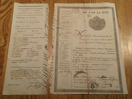 DE PAR LE ROI. PASSE-PORT. 1825. MOURMOUR OLORON.  POUR OLORON A MENDE. SIEUR CAPDEPON LIBERE DU SERVICE MILITAIRE TIRAG - Documents Historiques
