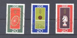 1969 DDR Mi-1491-1493  29.Juli Weltmeisterschaften - [6] République Démocratique
