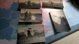 5 Photo D Epoque Guerre 14_18 Véhicules Militaires Du Courrier - Guerre, Militaire