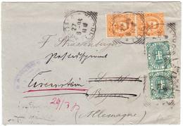1894 Brief Aus Rom Nach Lanzhut Und Weitergeleitet Nach Eisenstein - 1878-00 Humbert I.