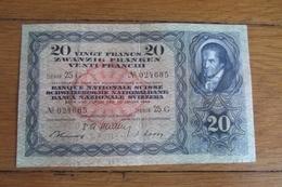 20 Francs Suisse 1949 - Suisse