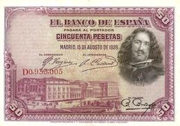Spain  P-75  50 Pesetsa  1928 - [ 1] …-1931 : Eerste Biljeten (Banco De España)