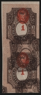 Russia / Russland 1917 - Mi-Nr. 77 B * - MH - Mitte Kopfst. & Rahmen Doppeldruck - Neufs