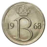 Monnaie, Belgique, 25 Centimes, 1968, Bruxelles, TTB+, Copper-nickel, KM:154.1 - 02. 25 Centimes