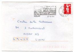 VIGNE & VIN = 21 NOLAY 1994 = FLAMME Type II = SECAP Illustrée  ' Une Histoire De 225 Millions D'années ' - Postmark Collection (Covers)