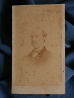 Photo CDV J Greiner à Bischwiller - Second Empire Homme Portrait Nuage , Circa 1865 L394 - Photographs