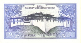 BHUTAN P. 12b 1 N 1986 UNC (2 Billets) - Bhutan