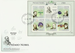 Guinea Bissau 2009, Nobel Price 1905, Phisic, Lenard, Chemic, Medicine, Koc, Letterature, Sienkiewicz, 6val In BF In FDC - Physique