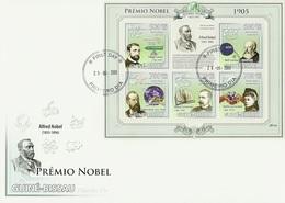 Guinea Bissau 2009, Nobel Price 1905, Phisic, Lenard, Chemic, Medicine, Koc, Letterature, Sienkiewicz, 6val In BF In FDC - Física