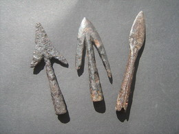 Ancient Viking Arrowheads 9-12 Century - Militaria