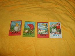 LOT DE 4 CHROMOS OU IMAGES ANCIENNES DATE ?. /  KIWI LE CIRAGE DE LUXE CHERCHEZ SA BOITE... - Trade Cards