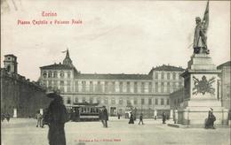 TORINO - Piazza Castello E Palazzo Reale - INIZI '900-ANIMATISSIMA - Rif. 723 PI - Palazzo Reale