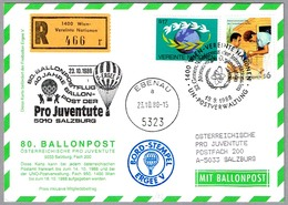 80 BALLONPOSTFLUG - CORREO VOLADO EN GLOBO. Wien 1988 - Correo Postal