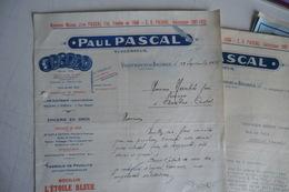 (022) FACTURES DOCUMENTS COMMERCIAUX. 12 AVEYRON VILLEFRANCHE DE ROUERGUE. PAUL PASCAL. épicerie En Gros. 16pages. 1933. - Food