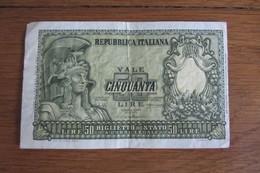 Italie 50 Lire - Italy