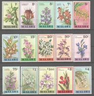 Malawi 1978 Yvert 311-25, Definitive, Flowers, Orchids - MNH - Malawi (1964-...)