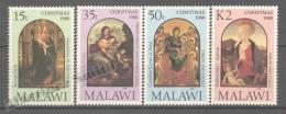 Malawi 1988 Yvert 533-36, Christmas, Paintings - MNH - Malawi (1964-...)
