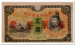 CHINA JAPANESE,5 YEN,1938,P.M25a,VF+ - Cina