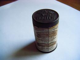 CACAO VAN HOUTEN & ZOON Boite Metal Avec étiquette ( Tres Rare ) Dose Individuel Paquetage Poilu 1914/1918 - 1914-18