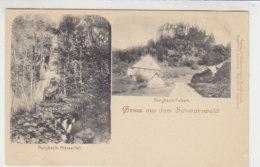 Gruss Aus Dem Schwarzwald - Burgbach-Felsen, Burgbach-Wasserfall - Um 1900 - Bad Rippoldsau - Schapbach