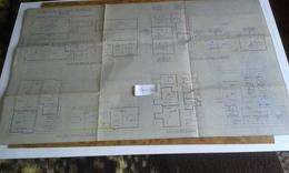 VP13.019 - Grand Plan 62 X 37 De L'Immeuble Du 57 Rue Basfroi à PARIS - Architecture