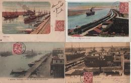 Port Said - Egypte - Lot De 4 Cartes Avec Type Mouchon - Port-Saïd (1899-1931)