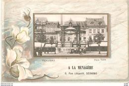 VERVIERS - 3 Cartes Gaufrées - Reclame A La Ménagère Seraing - L'état Tres Bon !! - Verviers