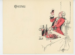 MENU - Joli MENU Illustré PUB Pour CARBONÉSIE - Cachets Digestifs - Format Fermé 13,9X9 Cm - Menus