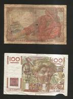 FRANCE - BANQUE De FRANCE - 100 Francs Jeune Paysan (1950) Et 20 Francs Pêcheur (1945) Lot Of 2 Different Banknotes - 1871-1952 Antichi Franchi Circolanti Nel XX Secolo