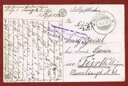 Zichtkaart Namen Met Veldpoststempel 14/6/1917;  2 Scan - WW I