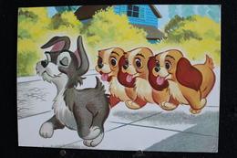 T-D, N°11 / Carte Postal Humoristique-Walt Disney Productions (La Belle Et Le Clochard) - Annette, Colette Et Danielle - Disney
